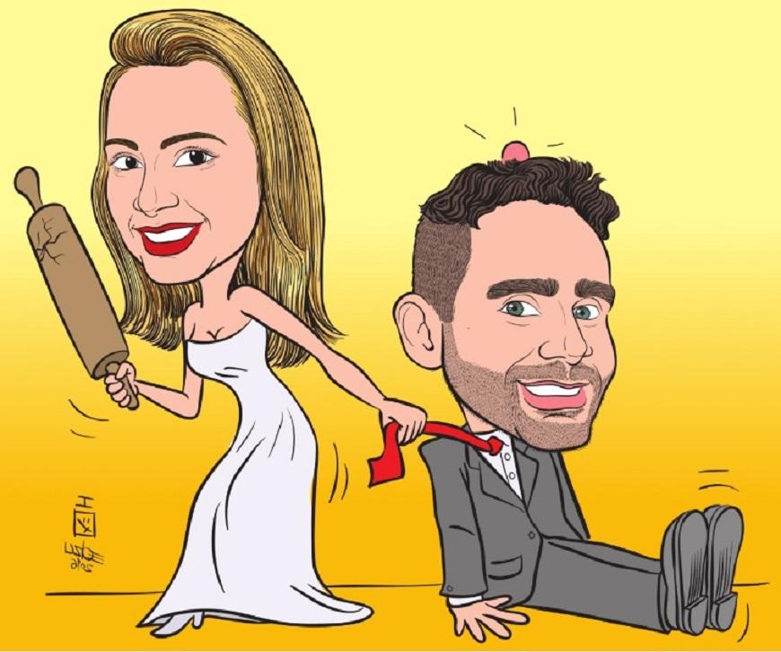 caricature sposi